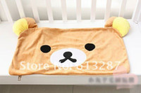 Cheap Wholesale-63*42 CM Kawaii Rilakkuma Plush Pillow Case,Pillow Cover,Pillowcase Animals Retail KCS