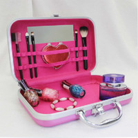 aluminium briefcase - New Makeup Briefcase Aluminium Frame Beautician Europe Carrying Case For Makeup Women Cosmetics Necessaries H