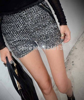 Wholesale Glittering Metallic Sequined Stretch Shorts Hot Bling Dancer Mini Short Pants