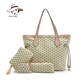Wholesale Autumn new preppy style PU women handbag Buy a has four fashion women messenger bags delicacy Cosmetic bag