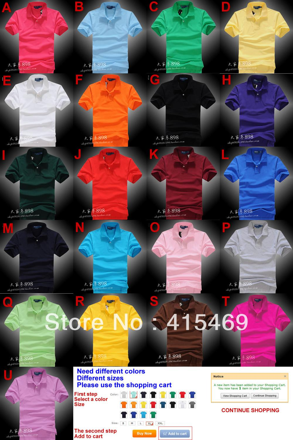 Wholesale-Men cotton short-sleeved pearl cotton embroidered pony standard short sleeve T-shirt S-XXL