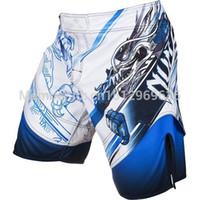 Wholesale New boxing Shorts Men LYOTO MACHIDA quot TATSU KING quot blue color Fight Boxing Fight shortTrunks Gym Training Short Sport Wear