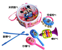 Wholesale New Lovely Cute Set Roll Drum Musical Instruments Band Kit Kids Children Toy Gift Set