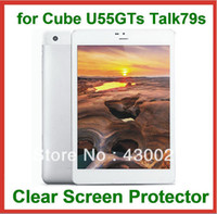 """Cheap Wholesale-3pcs Full Clear Screen Protector Protective Guard Film Size 201.5x135mm for 7.9"""" Cube U55GTS TALK79S NO Retail Package"""