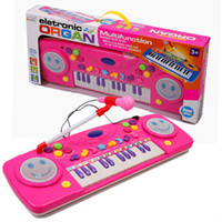baby microphone toy - Plastic toy Electronic Organ keys Musical toys with Microphone Educational toy for Children kids Baby gift
