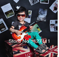 Wholesale Toy guitar child musical instrument electric guitar style Beginner learning guitar