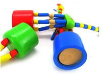 baby rocking animals - set colorful rocking giraffe Educational Vat Spring Shaking Animal Children Finger Toy Baby Play Fun Wood Toy