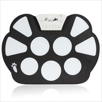 Nouveau gros-Digital Portable 9 Pad Musical Instrument Roll-up électronique Drum Kit W758, instrument de musique drums set de batterie électronique