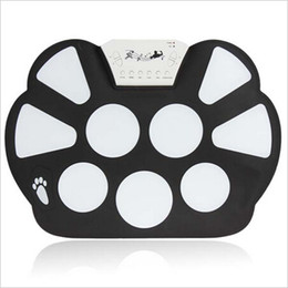 Nouveau gros-Digital Portable 9 Pad Musical Instrument Roll-up électronique Drum Kit W758, instrument de musique drums set de batterie électronique à partir de batterie électronique pad ensemble fabricateur
