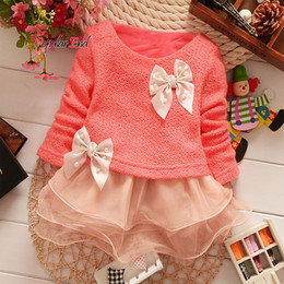 Wholesale-Girls Princess Dresses 2015 New Fashion Top Quality Lace Bowknot Party Dresses Flower Kids Girl Dress 1pc 12