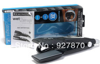 Wholesale Remington S8000T Hair Straightening Iron Dry Wet Straightener With Extra Long Plates Curved quot Flat Iron Salon Professional