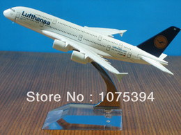 Wholesale New Lufthansa Airline Airbus A380 Passenger Airplane Plane Aircraft Metal Diecast Model Collection