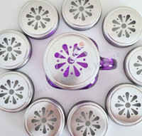 Wholesale Daisy Cut Mason Jar Lids mason jars and straws are NOT included Metal Kids Drinking glass Lids for Straws