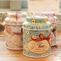 Wholesale Floral mini tea tin cans candy tin cans creative cooking tools mason jars