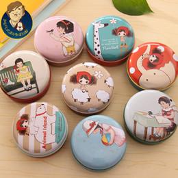 Wholesale Kawaii Little Girl Cartoon Mini Storage Candy Box Jar Organizer Sundries Tin Box Jewelry Case
