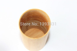 Wholesale Light elegant bamboo fragrance tea canister column Fahion Chinese traditional cultural style High quality low price tea caddy