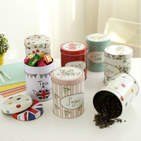 bamboo tea box - Vintage Country Sugar Candy Coffee Tea Storage Tin Box Container Jar Canister