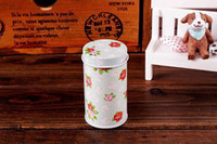 bamboo bins - New Arrival pieces a set Storage box Storage bin tea tin flower and cartoon pattern