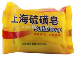 Wholesale Hot New Shanghai Sulfur Soap g Skin Conditions Acne Psoriasis Anti Bacteria Anti Fungus Lowest Price On Sale