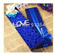bear valentine box - Princess Teady Bear Sweet Rose Soap Flowers Valentine Gifts Wedding Party Flower with Elegant Gift Box