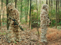 Wholesale D Camouflage Desert Hunting LEAF NET Ghillie Suit Jacket And Trouble