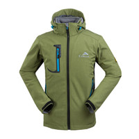 hunting clothes - New Arrive Soft Shell Fleece Jackets Outdoor Waterproof Windproof Hunting Camping Travel Snowboard Wind Coats Clothes for Men