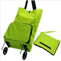 Cheap Wholesale-2015 New Japanese household portable shopping trolley bags foldable oxford large capacity reusable bag on wheels for moms