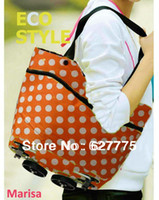 Cheap Wholesale-foldable oxford shopping bag, Rolling and portable shopping cart ,foldable shopping trolley bag with wheel as bag in bag