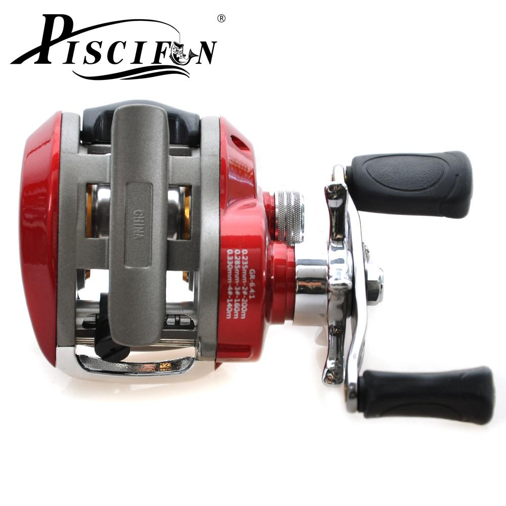 Wholesale-Piscifun 9+1BB 6.4:1 Red Right Hand Fishing Reel Carp Fishing Reels Baitcasting Reel Molinete Pesca Carretilha Pesca Fish Coil