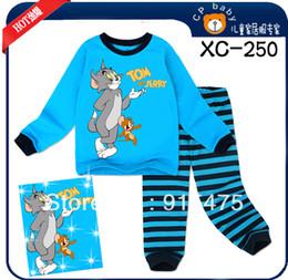 Wholesale sets children pajamas baby kids pyjamas TOM and Jerry boys sleepwear XC