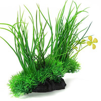 artificial grass pets - pc Artificial Plant Grass Plastic x18CM Green Underbrush Aquarium Decorations Aquatic Pet Supplies Retail