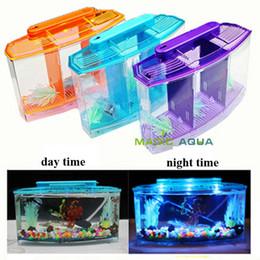 Wholesale Three Splits Mini LED Light Fighting Betta Fish Tank Aquarium