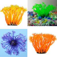 artificial tropical fish - Fish Tank Faux Soft Artificial Silicone Reef Coral Salt Fresh Water Aquarium Tropical Fish Tank Pet Decoration Ornaments New