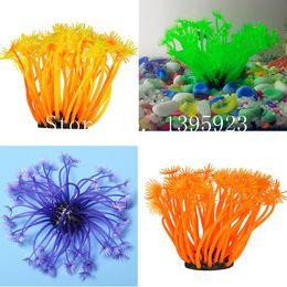 Wholesale Fish Tank Faux Soft Artificial Silicone Reef Coral Salt Fresh Water Aquarium Tropical Fish Tank Pet Decoration Ornaments New