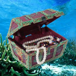 Скидка аквариум украшения Оптово-Hot Sale Aquarium Fish Tank Украшение Сундук воздуха Действие Красивое украшение