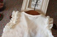 adorn chiffon - Summer New Fashion Sleeveless Chiffon Vest Set Litte Girl White Chiffon Top Red Bow Front Adorn Red Shorts Kids Suit