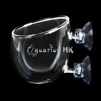 al por mayor taza de estar roja-Titular de la Copa del camarón Planta mayorista-Hinterfeld peces de acuario tanque de cristal vivo Pot Cristal Rojo