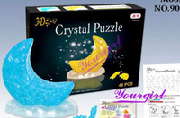 Cheap 3D Crystal Puzzle Educational Toy Crystal puzzle blocks toys FREE SHIPING