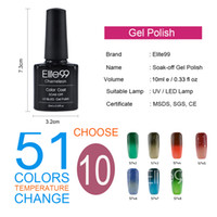 Wholesale Elite99 Temperature Changing Color Gel Polish Easy Use amp Easy Remove UV Gel Nail Polish Any Colors Of