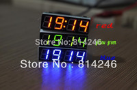 Wholesale Car clock voltage meter led digital tube electronic clock time thermometer vehienlar