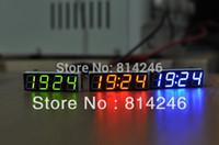 Wholesale Car clock voltage meter led digital tube electronic clock time thermometer vehienlar