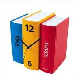 Wholesale Handmade design books clock the creative personality Dictionary vintage grandfather clock shelf Students Desk gift