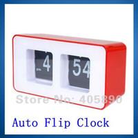 auto flip clock - Auto Flip Digital Clock Simple Electronic Clock Retro File Down Page Classic Modern Clock
