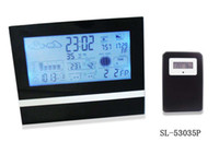 atmosphere weather - LCD Digital weather station alarm clock with RF Wireless Atmosphere Pressure Indoor Outdoor Thermometer