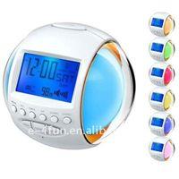 alarm clock radio nature sounds - Nature Sound Alarm Clock Radio with Color Changing Clock and FM Radio Countdown Timer