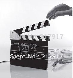 Wholesale Big Size Novelty LED Clock Film Director Action Board Digital Clock With Alarm cm for Gift