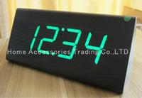 antique wood desks - dicount wooden table clocks wood LED Digital Alarm desk Clock