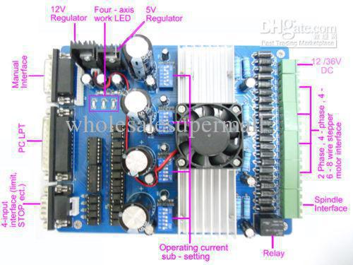 2017 4 axis tb6560 cnc stepper motor driver controller for Cnc stepper motor controller circuit