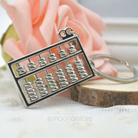 accounting purpose - Silvery Chinese Style Accounting Special Purpose Tool Rows Abacus Keychain Key Chain Ring Keyfob Keyring ZMHM149