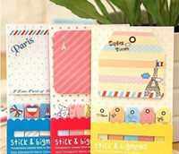 Wholesale Cute Post It Bookmark Marker Memo Flags Index Pad Tab Sticky Notes Office School Supplies Drop Shipping